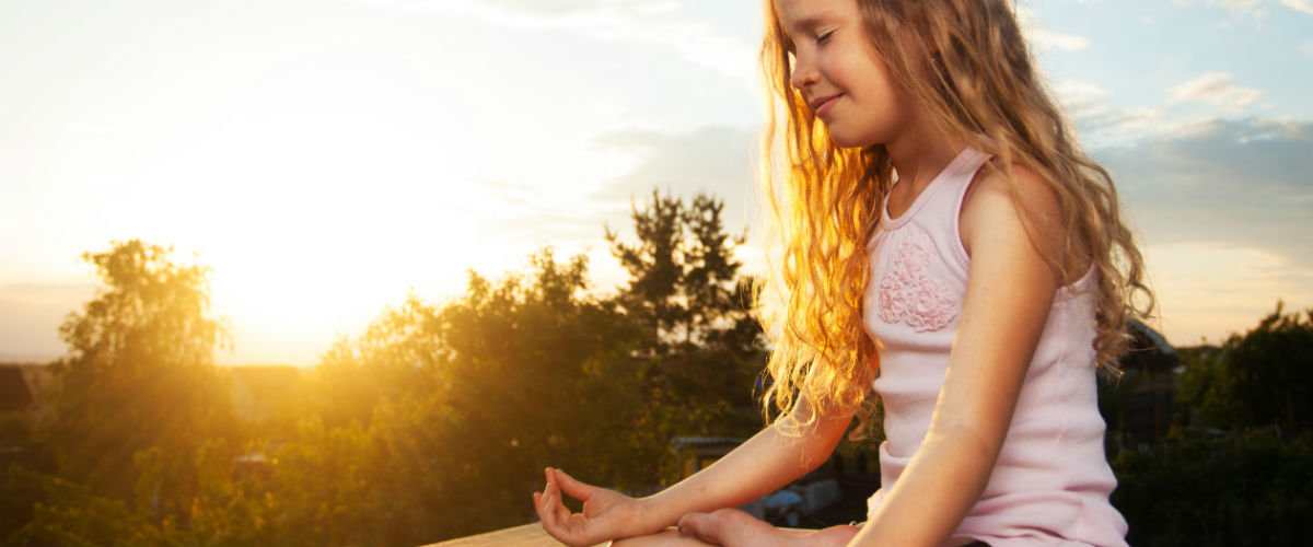 Girl Practicing Mindfulness Meditation